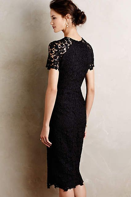 When I lose all the weight I've gained, this is what I will wear on an amazing date with husband.  Vanda Lace Sheath - anthropologie.com