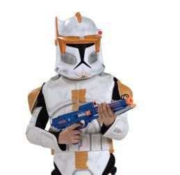 the star wars clone wars clone trooper childs deluxe commander cody costume comes with body armor - Clone Wars Halloween Costumes