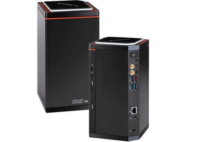 Gigabyte Brix VR Ready Compact Gaming PC Created to provide a system that is virtual reality ready the Gigabyte BRIX Gaming VR GB-BNi7HG6-1060 is fitted with an Intel Kay Lake processor