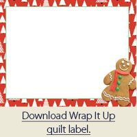 Christmas quilt label
