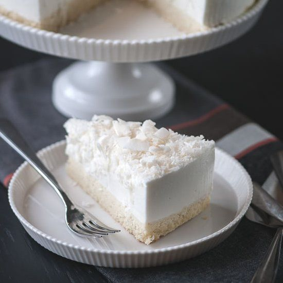 ... or dinner, you can end with a lighter dessert: Coconut Mousse Cake