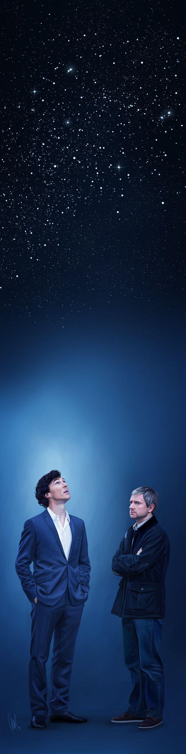 The solar system - Sherlock | by tillieke @ DeviantART.com // bbc sherlock; sherlock holmes; john watson