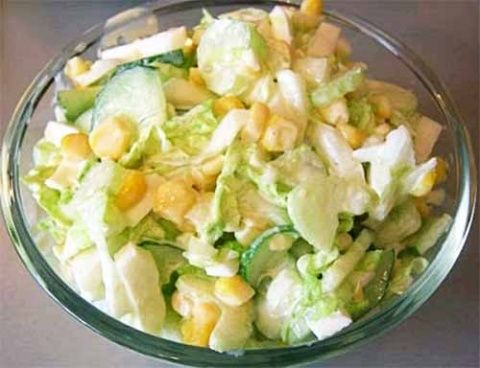 витаминный салат из сельдерея