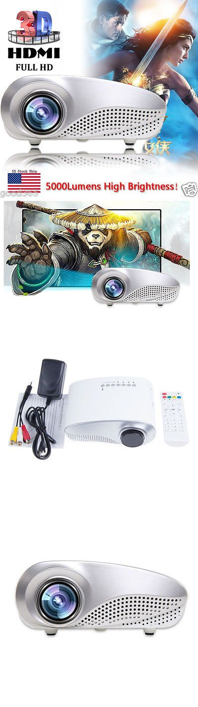 Home Theater Projectors: 5000Lumens Hd 1080P Portable Projector Home Cinema 3D Led Av Tv Vga Usb Hdmi Sd -> BUY IT NOW ONLY: $55.89 on eBay!