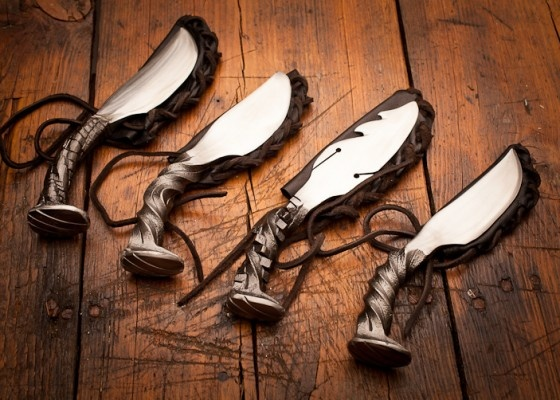 Railroad Spike Handmade Knives by Cinescape Studios