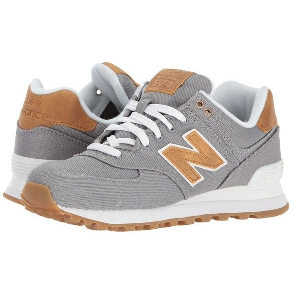 New Balance Classics ML574v1 (Steel/Steel) Women's Running Shoes ($80) ❤ liked on Polyvore featuring shoes, athletic shoes, running shoes, laced up shoes, steelers shoes, lace up shoes and athletic running shoes