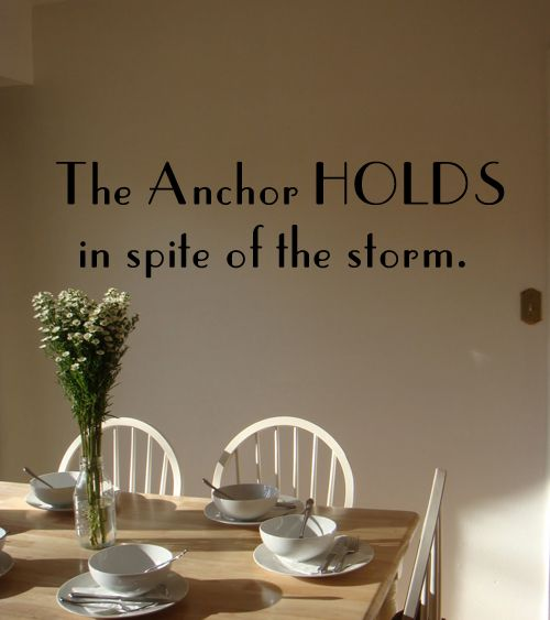 Anchor Holds Wall Decal