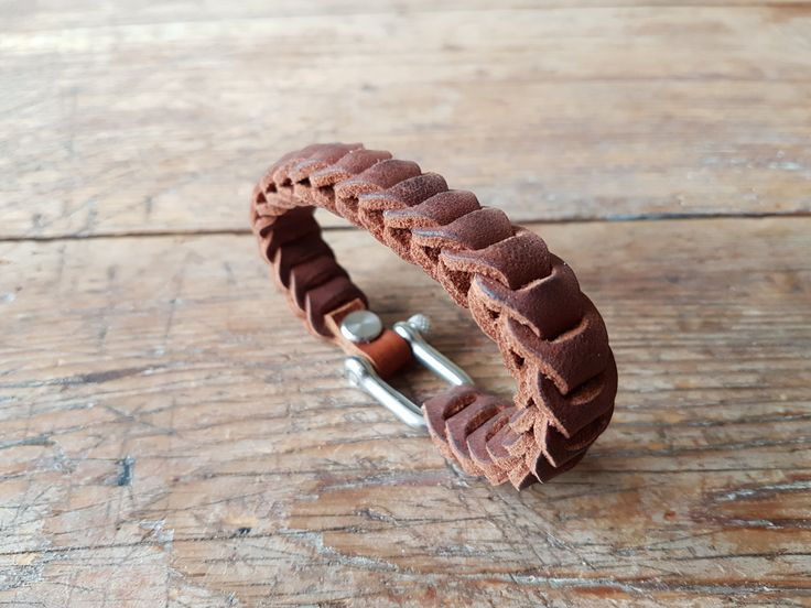 Leather bracelet - brown by TheCrazySmile on Etsy