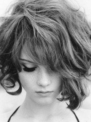 Asymmetrical Short Curls