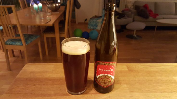 Day 335:Ploughed through a lot of work today.Spinning at the gym in the morning.Enlivened by the fire alarm going off while I was in the sauna…Back to work.It's December 1, so the Beer Advent Calendar is open!The Beer:Julebrygg from Ægir Bryggeri of Flåm, Norway.A great start to the Christmas beer season – plummy with raisins :-)