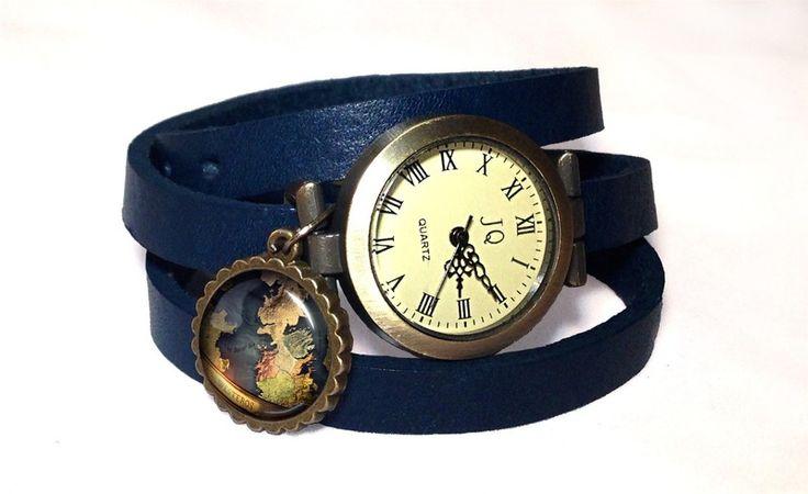 Leather watch bracelet - Westeros, 0195WNV from EgginEgg by DaWanda.com
