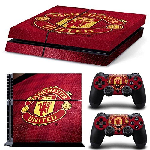 Hambur PS4 Console Designer Skin for Sony PlayStation 4 System plus Two2 Decals for PS4 Dualshock Controller  United Mancherster Football *** Click on the image for additional details.Note:It is affiliate link to Amazon.