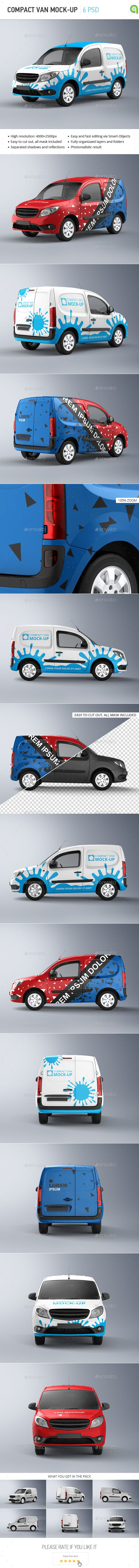 Compact Van Mock-up #design Download: http://graphicriver.net/item/compact-van-mockup/13388752?ref=ksioks