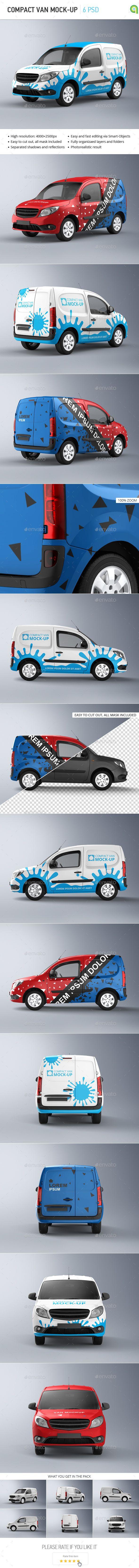 Car sticker design download - Compact Van Mock Up
