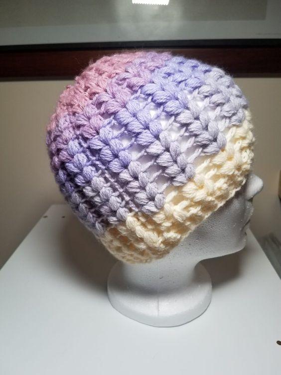 Revisão do teste padrão do crochet do dobro Bobble   – crochet. hats