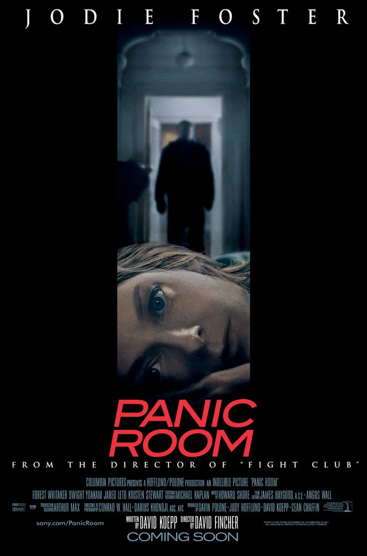 Panic Room, directed by David Fincher, starring Jodie Foster and Forest Whitaker, 2002
