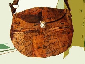 torby na ramię - damskie-torebka Mapa
