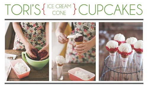 Tori's Ice Cream Cone Cupcakes  from The Party Dress blog