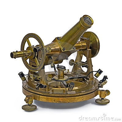 Antique telescopic measuring instrument by Sergey Melnikov, via Dreamstime