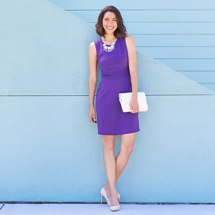 The most flattering dress ever, The Dita comes in multiple colors—perfect for work, wedding and weekends. Feeling glam? Accessorize this A-line dress with chunky jewelry and pointed pumps. Have you signed up for Stitch Fix yet? Get gorgeous & versatile pieces like The Dita, delivered straight to your door!