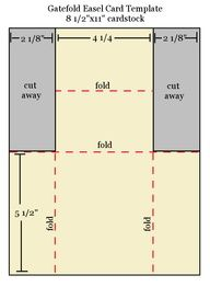 free folded card templates