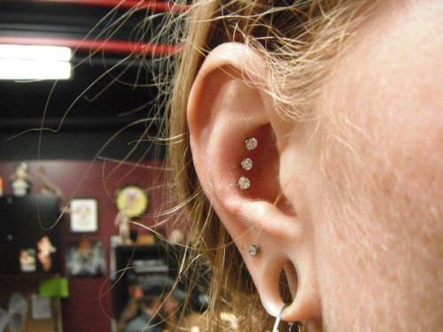 No more triple helix!!! come try the Triple conch piercing.