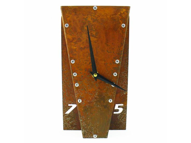 Leaning Desk Clock IV (Rusted)