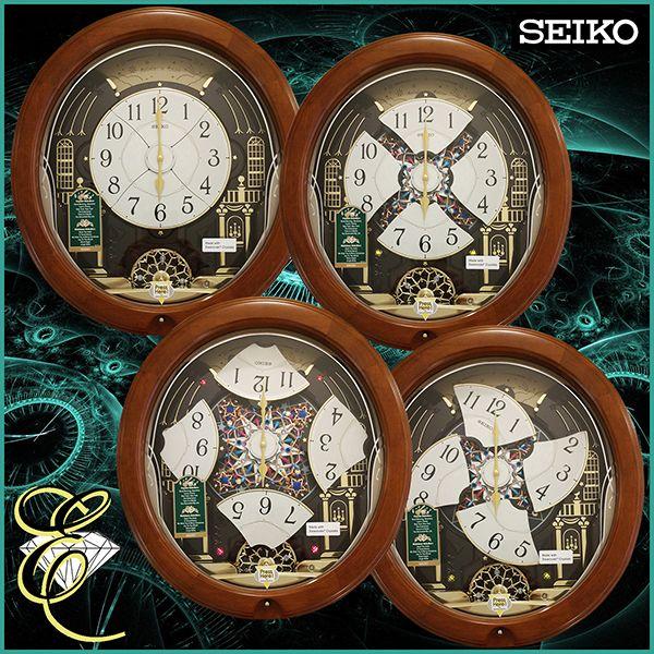 Seiko Westminster Whittington Quarter Hour Chime And Hourly Strike Pendulum Wall Clock In Dark Brown Oak Chiming Wall Clocks Pendulum Wall Clock Pendulum Clock