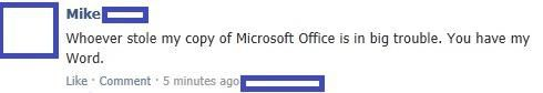 MS Word ░ When you've lost Access to Microsoft Office, go Outlooking: | 26 Puns That Are Too Clever For Their Own Good