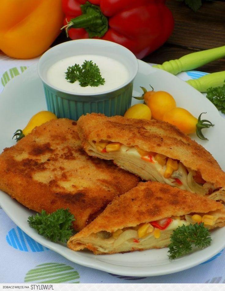 Kotlety naleśnikowe ala'pizza ciasto: 3 szklan… na Stylowi.pl