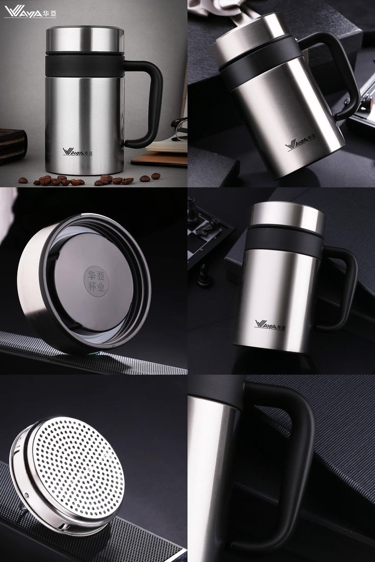 [Visit to Buy] Thermos Cup Stainless Steel Coffee Mug with tea infuser Thermo Mug water cup for Tea Thermo Mugs Insulated Thermo Cup Auto Car #Advertisement