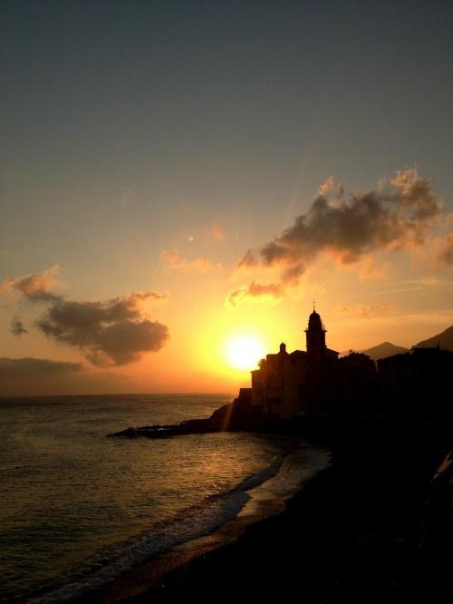 Camogli, sunset