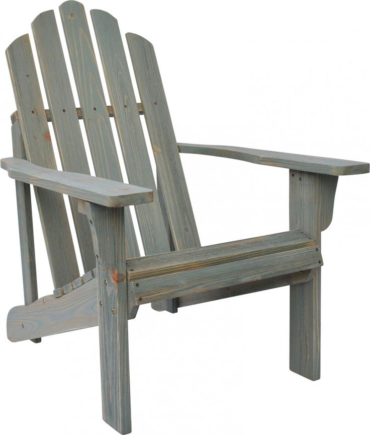 Shine Co Rustic Adirondack Chair In Dutch Blue Finish