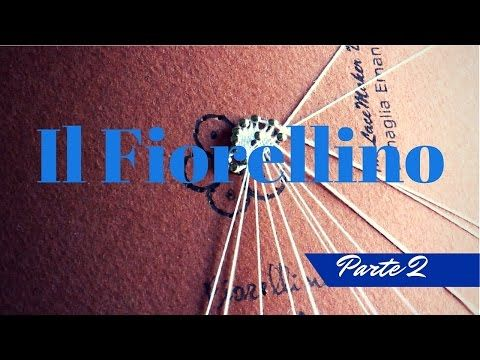 TOMBOLO - come fare i fiorellini in pizzo - YouTube