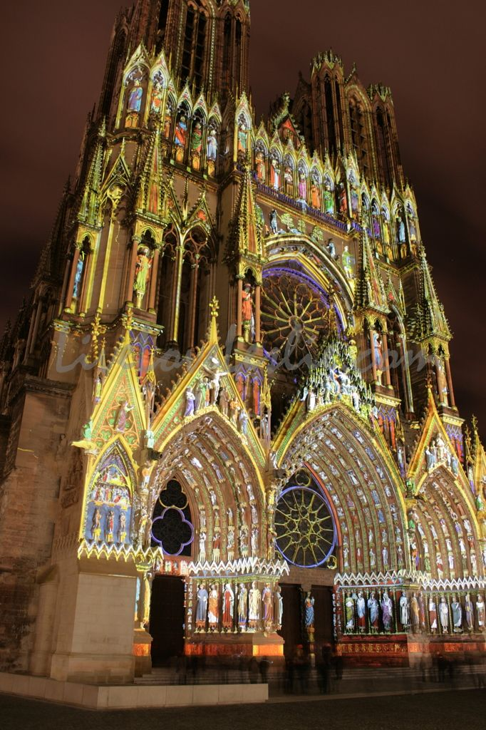 Light Show In My Husbands Hometown Of Reims France Where All The Kings Gothic ArchitectureAmazing