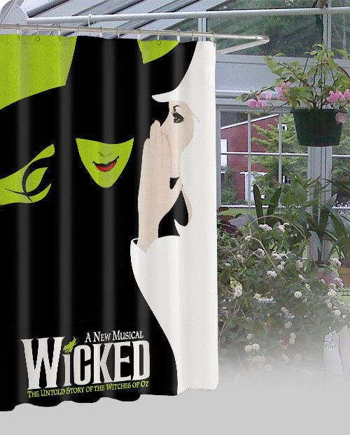 """New Limited Edition Wicked Musical Design High Quality Shower Curtain 60"""" x 72"""" #Unbranded #Modern"""