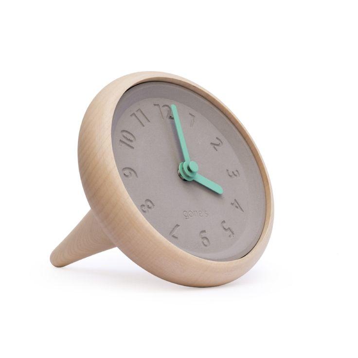 Toupie - tafel klok. Wijzers in meerdere kleuren verkrijgbaar