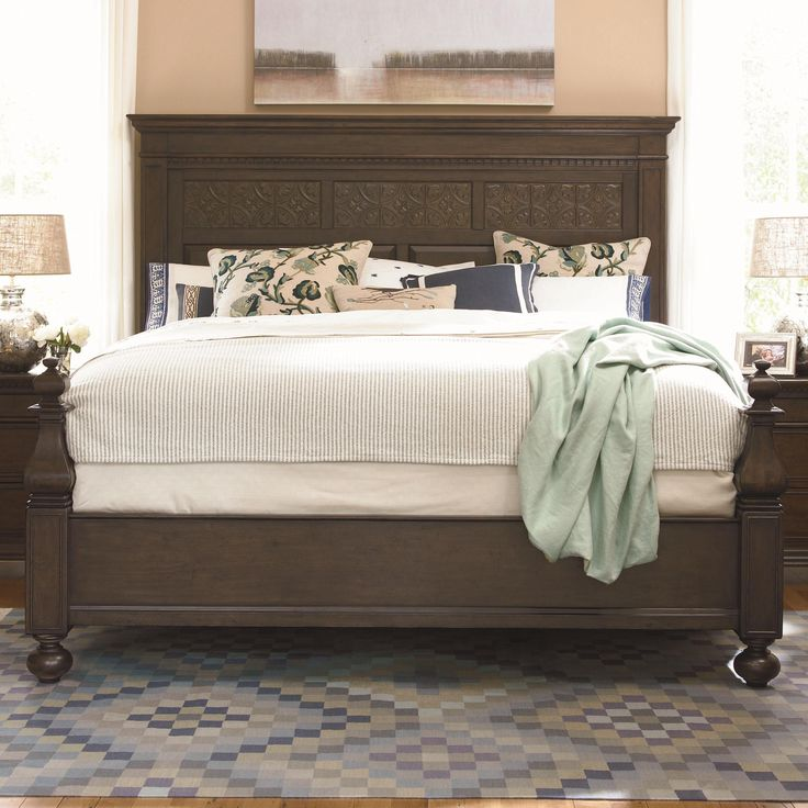 Down Home King Aunt Peggy s Bed with Headboard and Footboard by Paula Deen  by Universal   Belfort Furniture   Headboard   Footboard Washington DC. 7 best Bedroom furniture images on Pinterest   3 4 beds  Bedroom