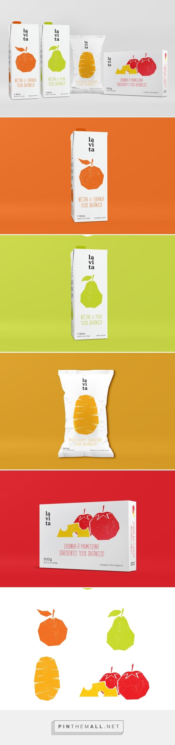 La Vita / A set of packages for the retail commerce in the brazilian market with focus on natural and organic products. by Felipe Mesquita