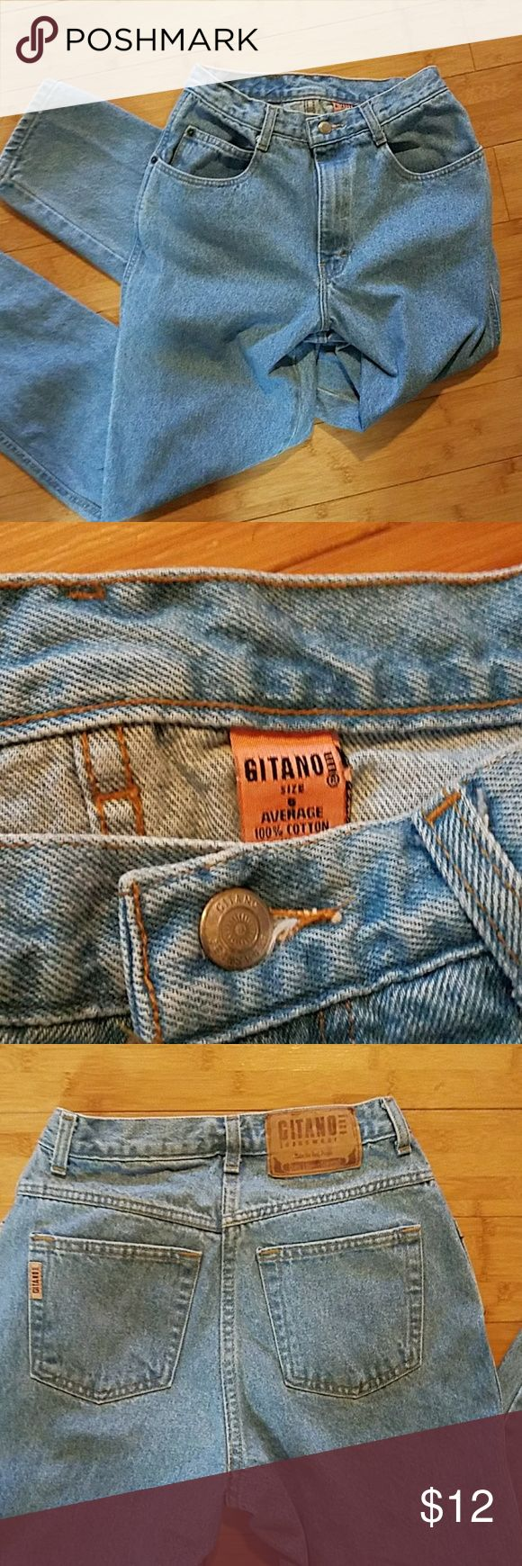 "Vintage Gitano High Waist Mom Jeans Very good condition.  Waist 13"" Inseam 29"". Thanks for looking! Gitano Jeans Straight Leg"