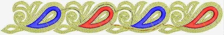weefsel stof Kant grens