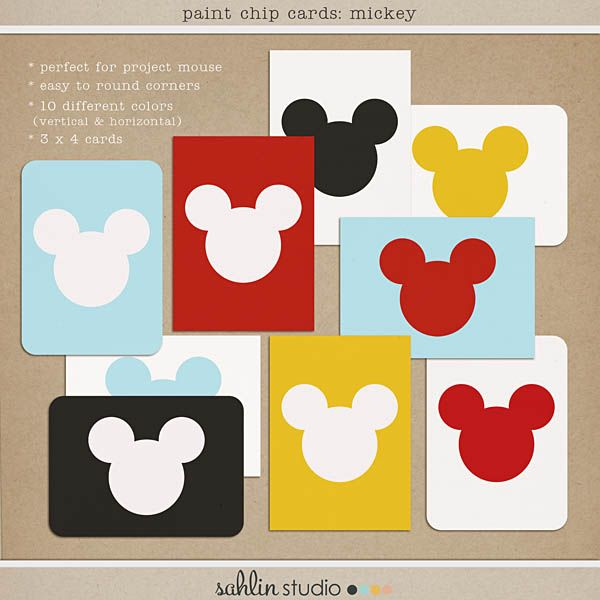 paint chip cards-mickey FREEBIE by sahlin studio