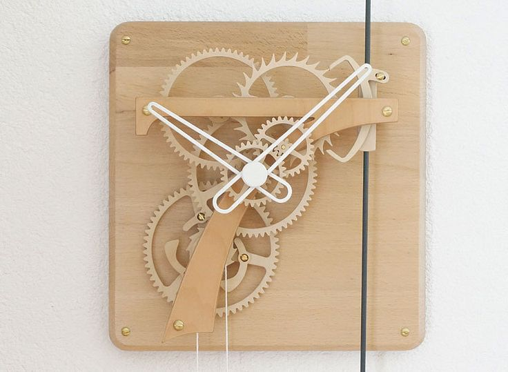 SEPTIMUS Wooden clock kit by WOODENTIMES on Etsy https://www.etsy.com/listing/191974637/septimus-wooden-clock-kit