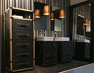 pretty cool: Bathroom Design, House Design, Bathroom Furniture, Architecture Interiors, Design Interiors, Interiors Design, Bathroomdesign, Suitca, Vintage Interiors