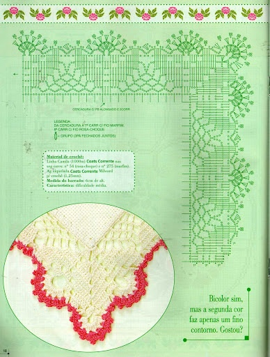 CANTINHO DA DRY: Bordi All Uncinetto, Bordur Crocher, Bordi Uncinetto, Crochê Barrado, Quaver, Crochet Edge, Crochet Dollies, Crochet Edging Borders Lac, Crochet Charts