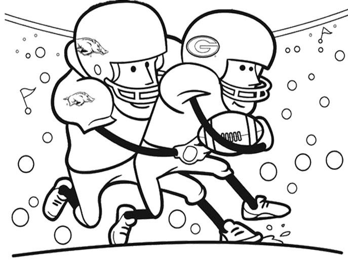 cartoon player football coloring pages