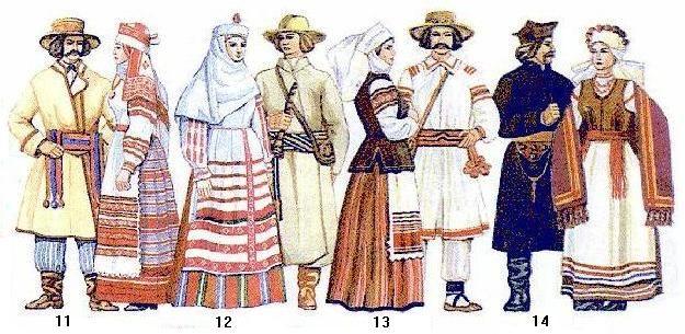 Belorussian (Eastern Slavic) folk costumes