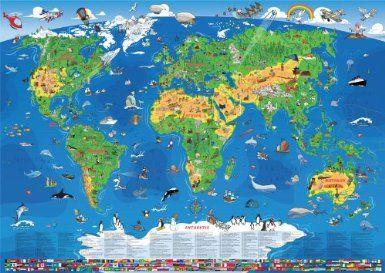 Fancy Kinder Weltkarte XXL Meter Amazon de Karl Wenschow Schulkarten