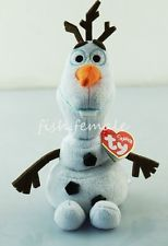 "6"" Olaf Disney Frozen TY Beanie Babies Snowman Plush Stuffed Toy New Gift N#210"