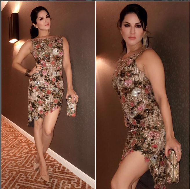 Sunny Leone In a Beautiful Dress.